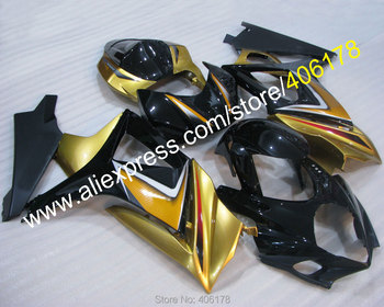 GSXR 1000 07 08 Body kit For GSX-R1000 2007 2008 Gold Decals Motorcycle Fairings kit (Injection molding)