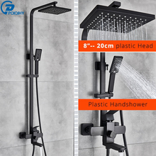 Shower-Faucet-Set Bathtub Wall-Mount 8''rainfall POIQIHY Handheld with Sprayer