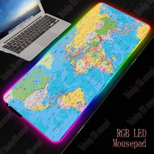 XGZ Map Gaming RGB Large Mouse Pad Gamer Big Mouse Mat Computer Mousepad Led Backlight XXL Surface Mause Pad Keyboard Desk Mat xgz nebula rgb large gaming starry mouse pad gamer led computer pad big mat with backlight for keyboard desk