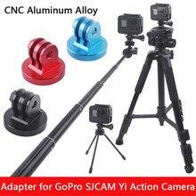 Tripé de liga de alumínio com adaptador, suporte monopé para gopro hero 8 7 6 5 sjcam eken yi 4k dji conjunto de acessórios da câmera de ação osmo