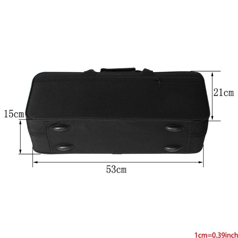 600D Water-resistant Gig Bag Box Backpack Oxford Cloth For Trumpet With Adjustable Dual Shoulder Strap Pocket Foam Cotton Padded