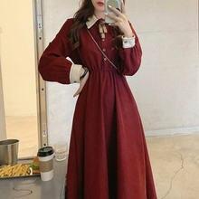 Сказочное винтажное платье женское осеннее элегантное во французском