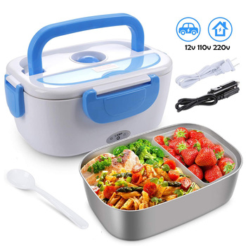 Electric Lunch Box for Car 12V Home US Plug 110V EU Plug 220V Electric Heating Food Container Lunch Box for Food Keep Warmer 1 5l 110 220v portable electric lunch box food grade bento lunch box heating food container 2 in 1 food warmer eu us car plug