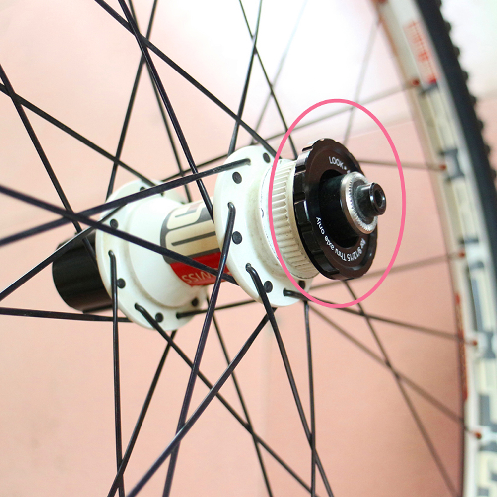Bike Bicycle Centerlock Adapter Disc Brake Rotor Cover For 12/15/20MM Thru Axle Hub Wheel Disc Lock Cover For Mountain Road Car