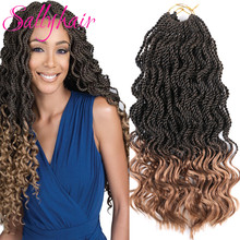 Sallyhair Senegal Twist Braids Crochet Braiding Hair Extensi
