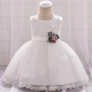 Белое платье для маленьких девочек, платье на крестины для девочек 2-1 лет, платье на день рождения, 6-12 месяцев, 2020