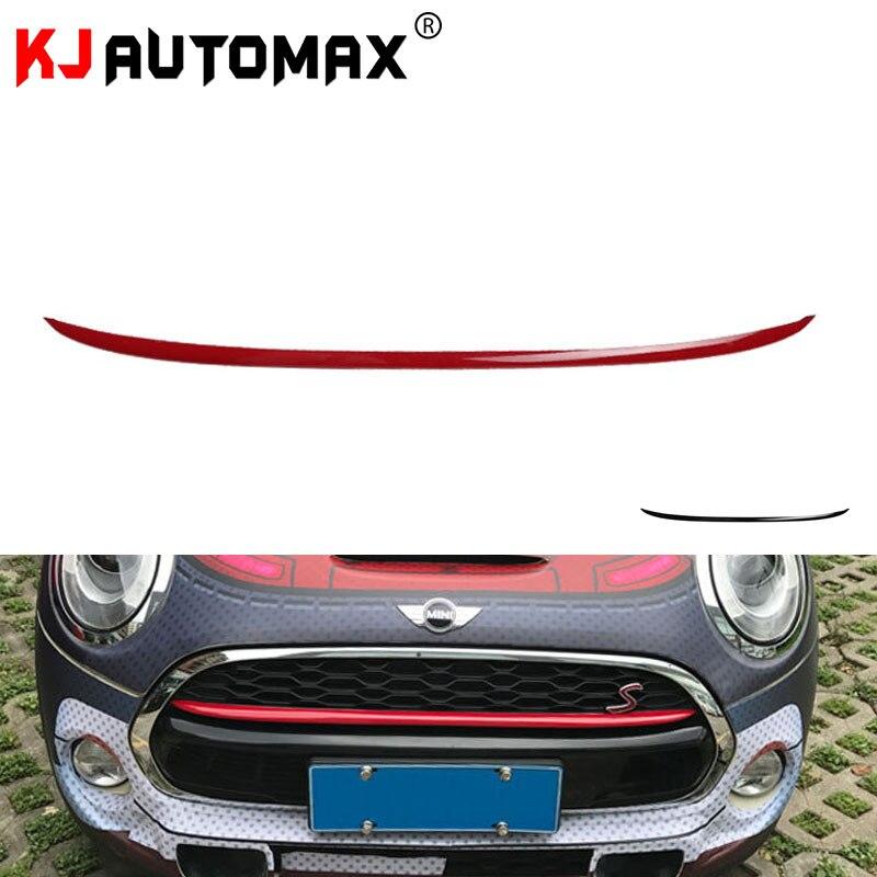 Для Mini Cooper F55 F56 R60 передняя решетка радиатора декоративная крышка полоса Аксессуары для стайлинга автомобиля