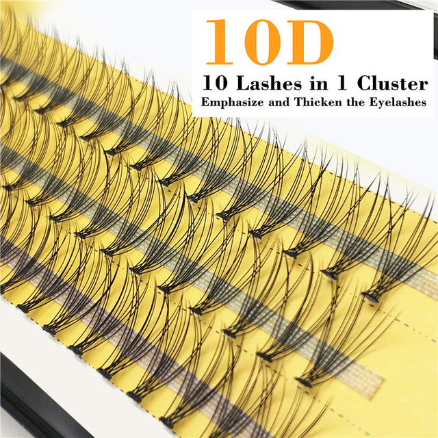 1box 0.07 10D False Eyelashes C Curl Faux Mink Eyelashes Extensions 60 bundles Strip Eyelashes Individual Lashes Natural Style