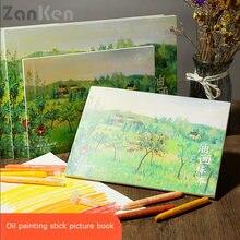 Zanken масляная пастель книга картины раскраски и вуалью для