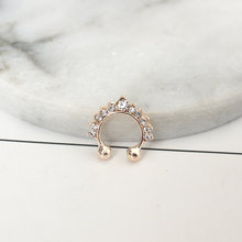 1Pc Zircon Fake Septum Piercing Nose Ring Hoop nose For Girl Men Faux Body Clip Rings non Body Jewelry Non-Pierced(China)