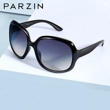 Женские солнцезащитные очки PARZIN, поляризационные, брендовые, с большой оправой, Ретро стиль, черные, UV400