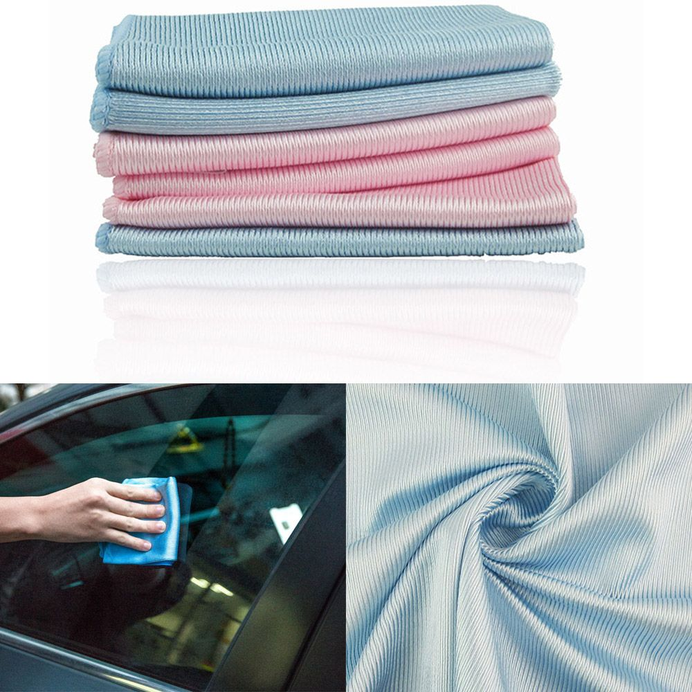 Multi-use Microfiber Cloth Glass Mirror Smooth Traceless Absorbent Cleaning Rags Kitchen Dish Towel Scouring Pad Car Cleaning(China)