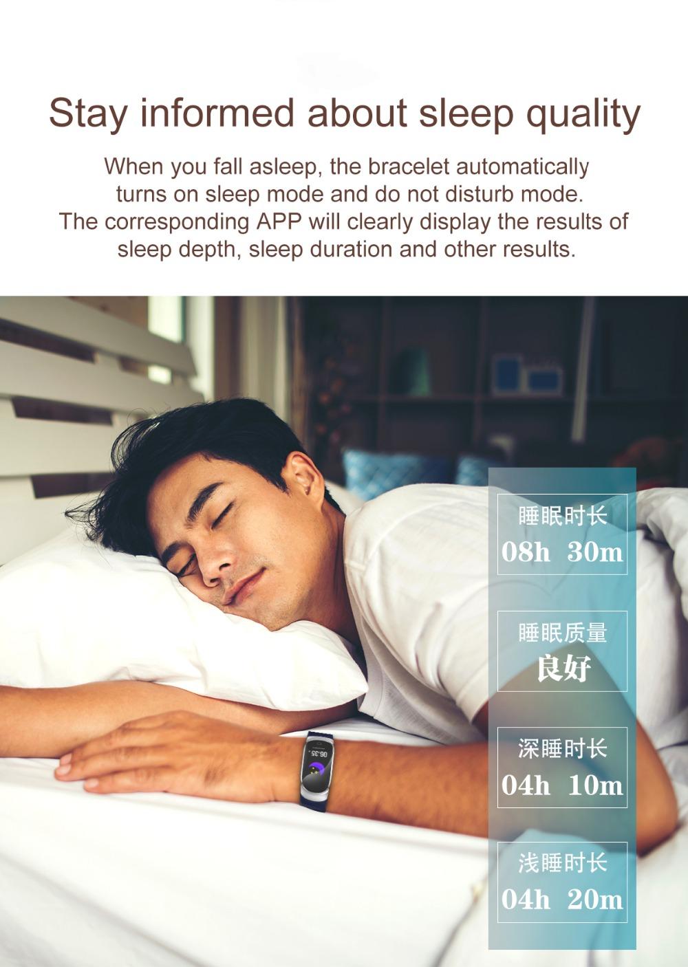 QW16 Smart Band Heart Rate Tracker Fitness Tracker Smartband Smart Bracelet Waterproof Smart Wristband Smart Watch pk mi band 3 (9)