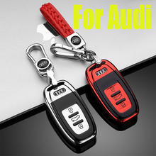 ZOBIG TPU Car Key Cover Case For Audi A5 Q7 S4 S5 A4 B9 A4L 4m TT TTS RS 8S 2016 2017 2018 Smart