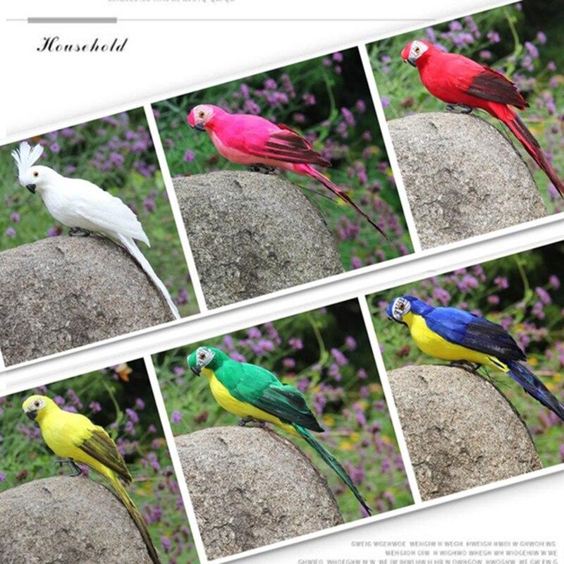 Статуэтка орнамент статуи животных имитация птицы реалистичные Красивые пены дерево газон домашний сад двор Декор