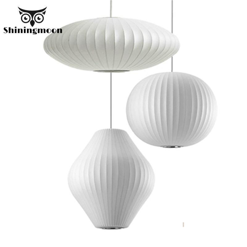 Nordic Silk Pendant Lights Clothing Store Office Deco Hanglamp Lantern Lamp Silk Material Luminaire Suspension Hanging Lights