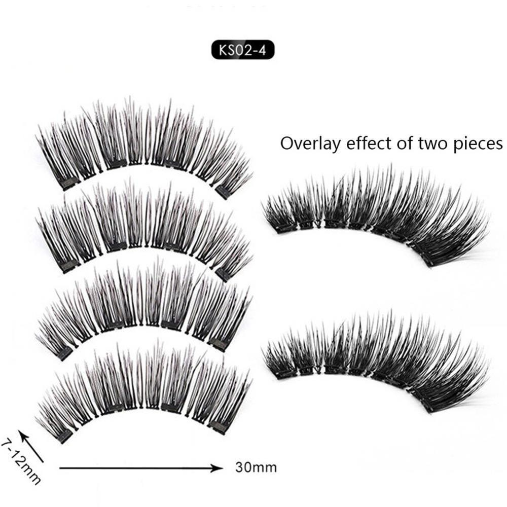 Wholesale Fake Lashes Magnetic Eyelashes Natural/Thick Bushy Reusable Eye Makeup Soft  Wispy/Messy Handmade Extension Make Up
