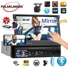 7'' Bluetooth Touch Screen free shipping  USB/SD/AUX/EQ/FM/TFT 1 Din Car Radio steering wheel/remote control 12 languages free shipping 5pcs eq eb eq in stock
