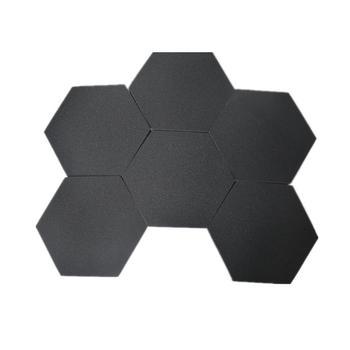 6 sztuk dźwięku dowód Padding panele akustyczne sześciokątne dźwięk dowód Padding panele tłumienia dźwięku dla domu biura ściany # 4O tanie i dobre opinie 6PCS Acoustic Panels Hexagonal Sound Proof Padding Sound Dampening