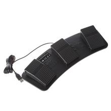 цена на Promotion! FS3-P USB Triple Foot Switch Pedal Control Keyboard Mouse PC Game Plastic