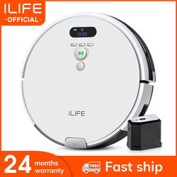 ILIFE V8 Plus Robot Vacuum Cleaner Sweep & Wet Mop 750ML Dustbin Navigation Planned Cleaning