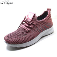 2020 Summer Shoes Women Sneakers Fashion Lace-up Trainers Tenis Feminino Mesh Sneakers Knitted Vulcanized Shoes Calzado Mujer