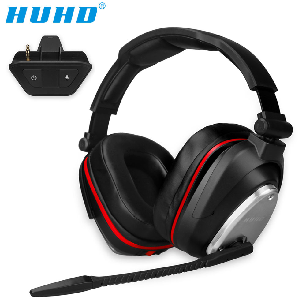 HUHD With adapter True Wireless 7.1 Gaming Headset for Xbox one Stereo Surround Sound Noise Cancelling Gamer Headphones With Mic image