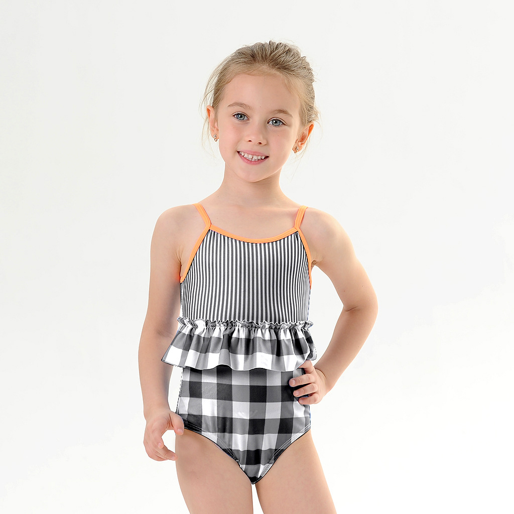 Children Siamese Swimsuit Export Sports Bathing Suit Girl's One-piece Girl's Swimsuit 2020 New Style