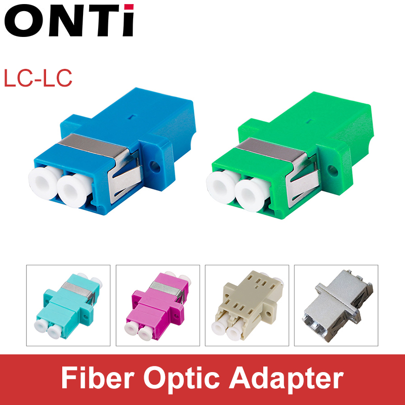 ONTi LC UPC Duplex Single-mode Fiber Optic Adapter LC Optical Fiber Coupler LC APC Fiber Flange LC Metal Connector