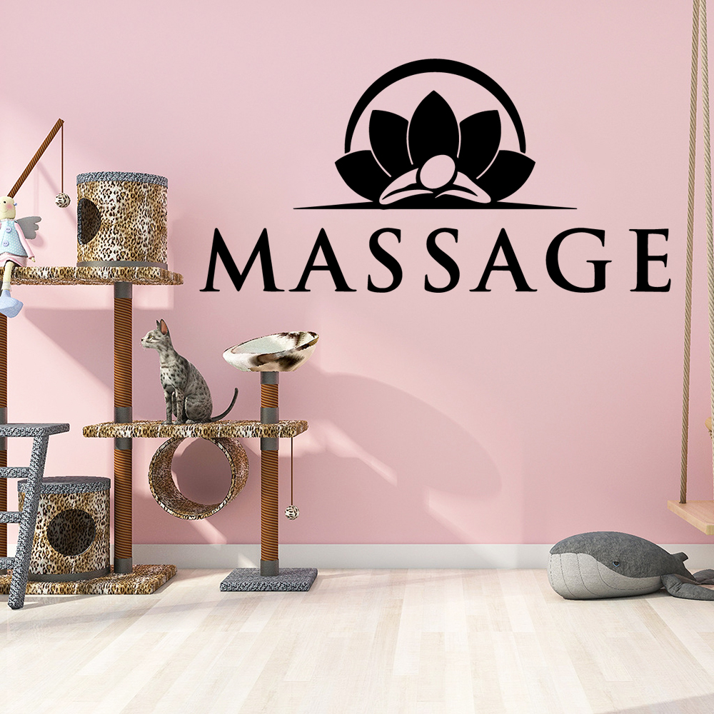 Excellent Massage yoga Vinyl wall sticker Spa For Yoga Room Decor Art Decal Spa Room stickers on the wall