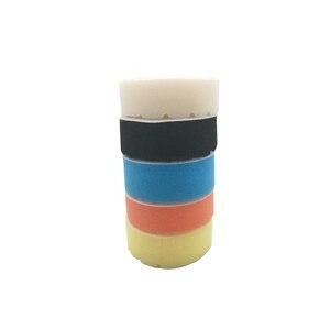 Image 5 - 5pcs רכב ליטוש דיסק דביק מרוט שעווה כרית מוטה צבע ספוג עבור רכב לטש תרגיל מתאם