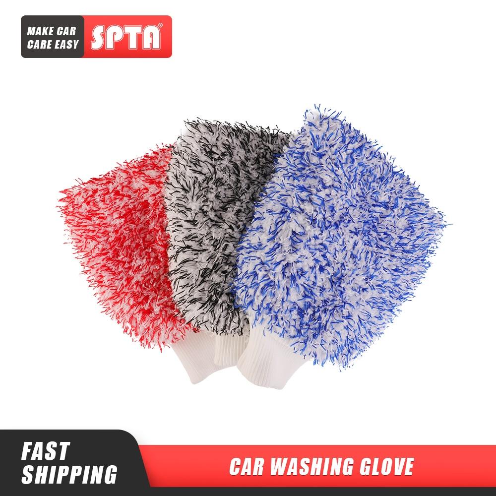 SPTA yumuşak emiciliği eldiveni yeni stil mikrofiber oto bulaşık eldivenleri çift taraflı renkli kadife eldiven