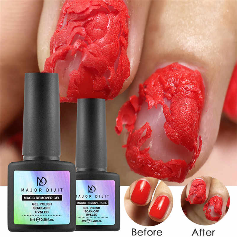 1 Pc 8ml Nail Magic Remover Gel Nail Remover Remove Nail Polish Fast Soak Off Gel Nail Polish Base Top Coat Burst Glue Nail Glue