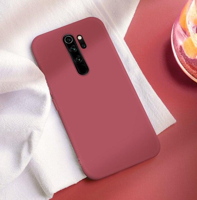 For Xiaomi Redmi Note 8 Pro 8T Case Liquid Silicone Shockproof Bumper Soft Phone Case on Redmi Note 8 T 9S 9 Pro Poco X3 Cover 4