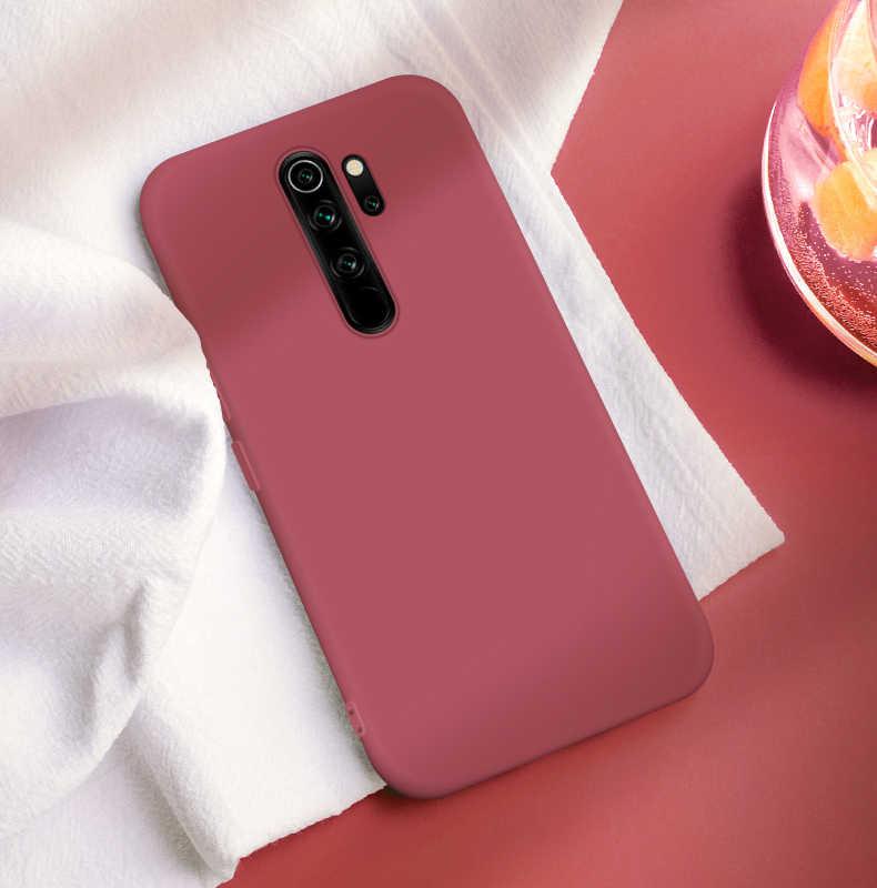Pour Xiaomi Redmi Note 8 Pro 8 T étui liquide Silicone antichoc pare-chocs souple étui de téléphone sur Redmi Note 8 T 9S 9 Pro Poco X3 couverture