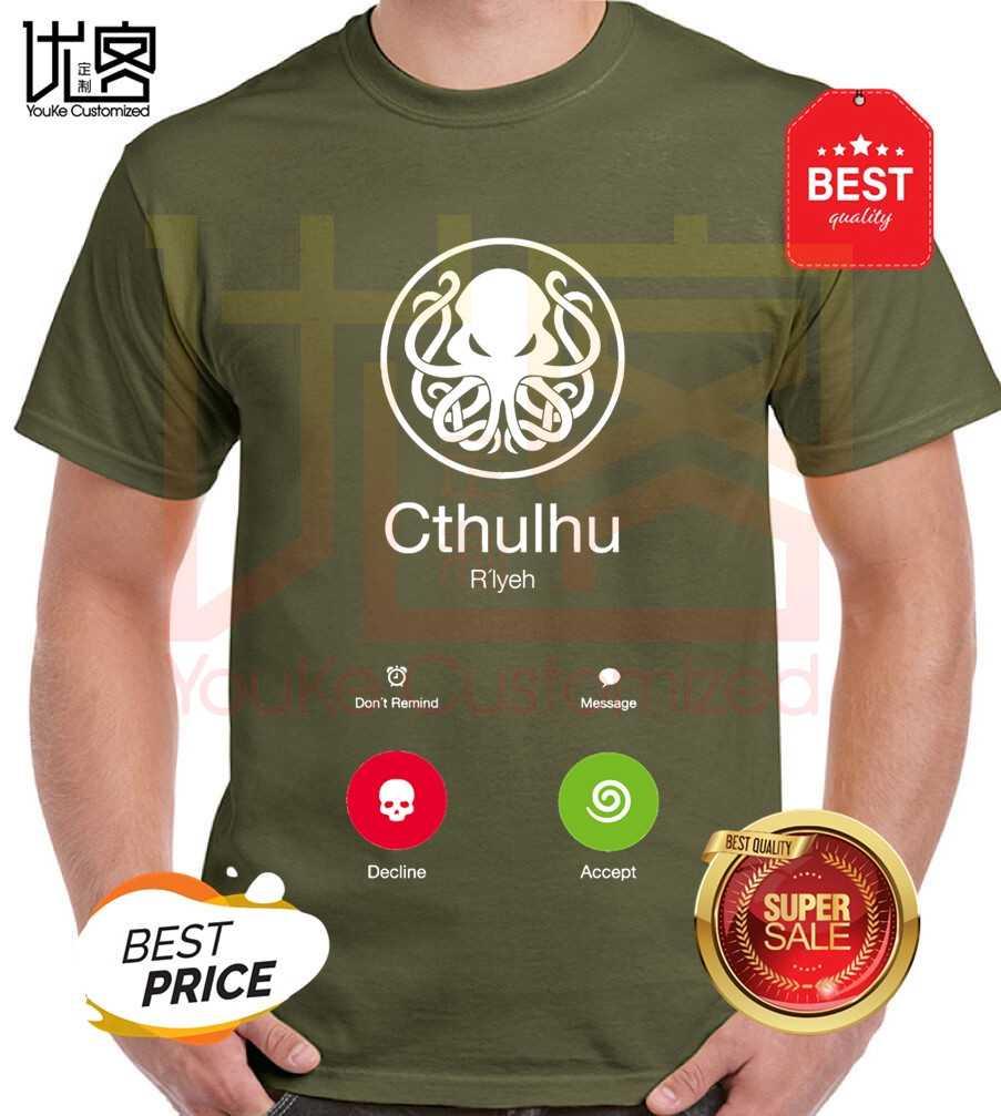 Call Of Cthulhu T Kemeja Pria Wanita Musim Panas 100% Katun TIM Tee Pria Terbaru Top Populer Normal tee Shirt