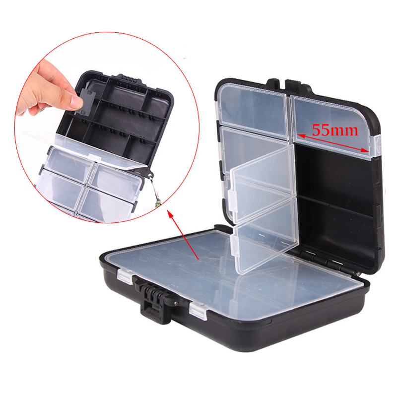 16 Compartments Mini Fishing Tackle Box Fish Lures Hooks Baits Plastic Storage Holder Square Case Pesca Fishing Accessories