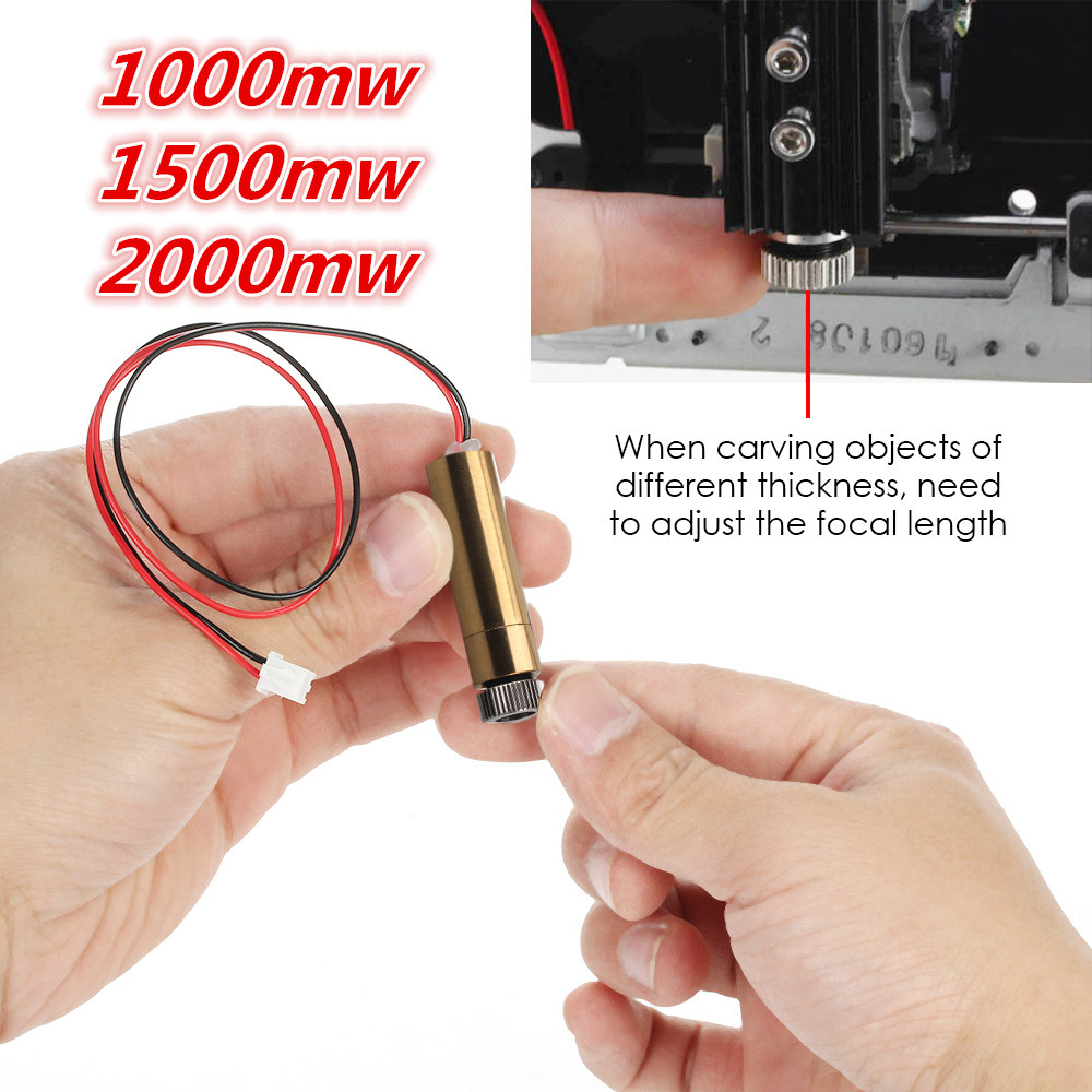 1000mw/1500mw/2000mw 405nm Laser Module Head For Neje Laser Engraving Machine Laser-engraver Necessary Accessory For DIY Carving