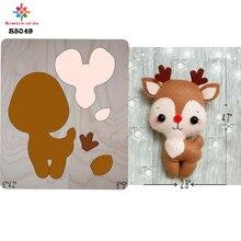 Christmas deer 3die cut accessories wooden die  Regola Acciaio Die Misura ,   S5049