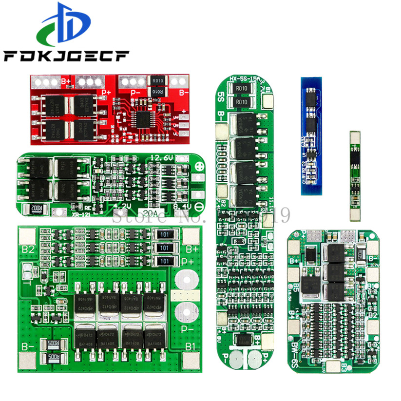 1S 2S 3S 4S <font><b>5S</b></font> 6S 3A 15A 20A <font><b>30A</b></font> Li-ion Lithium Battery 18650 Charger PCB BMS Protection Board For Drill Motor Lipo Cell Module image