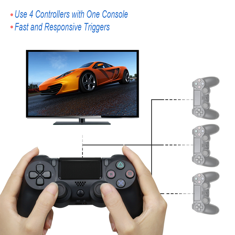 Bluetooth Gamepad and Wireless Game controller with Audio Function for PS4 and PS3 14