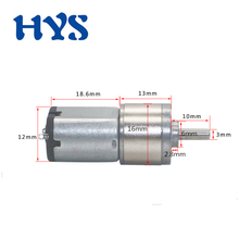 HYS Motor DC 3V 6V Gear Motors 6-480rpm All-metal Reducter 6 volt Mini Electric Micro Smartlock JGA16-030 DC3V-6V