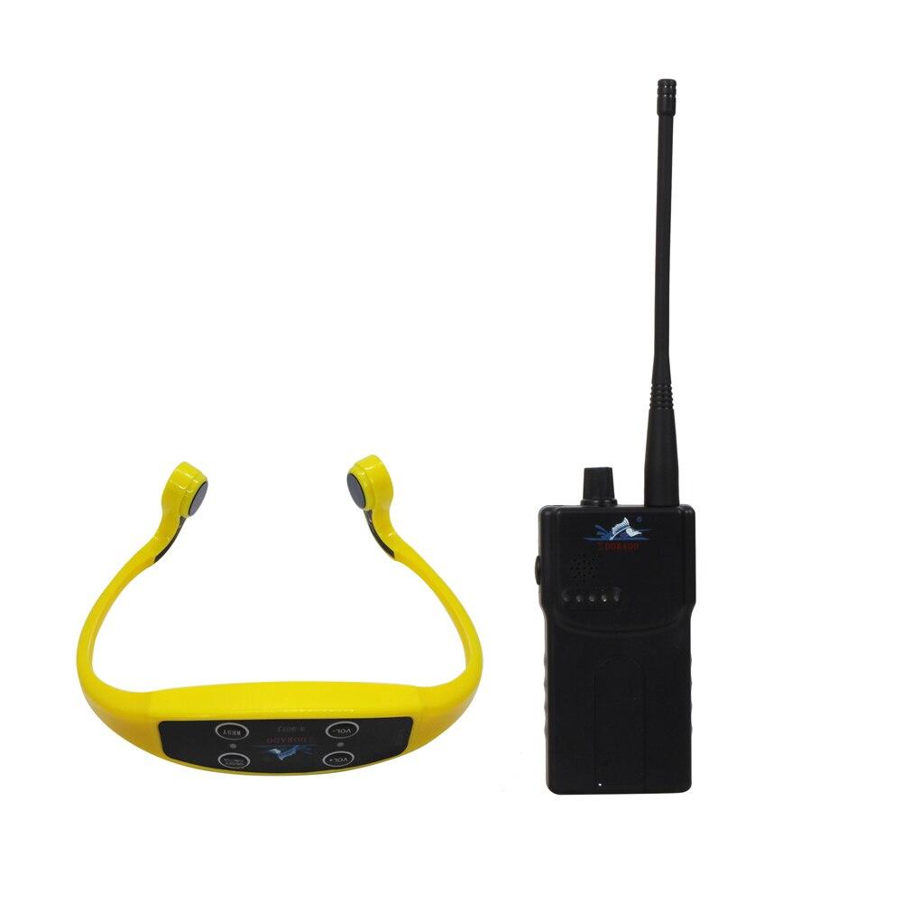 Swimming Wireless Teaching Device With 1 Walkie Talkie Transmitter  + 10 Bone Conduction Waterproof Receivers Headset+ 1 Mic