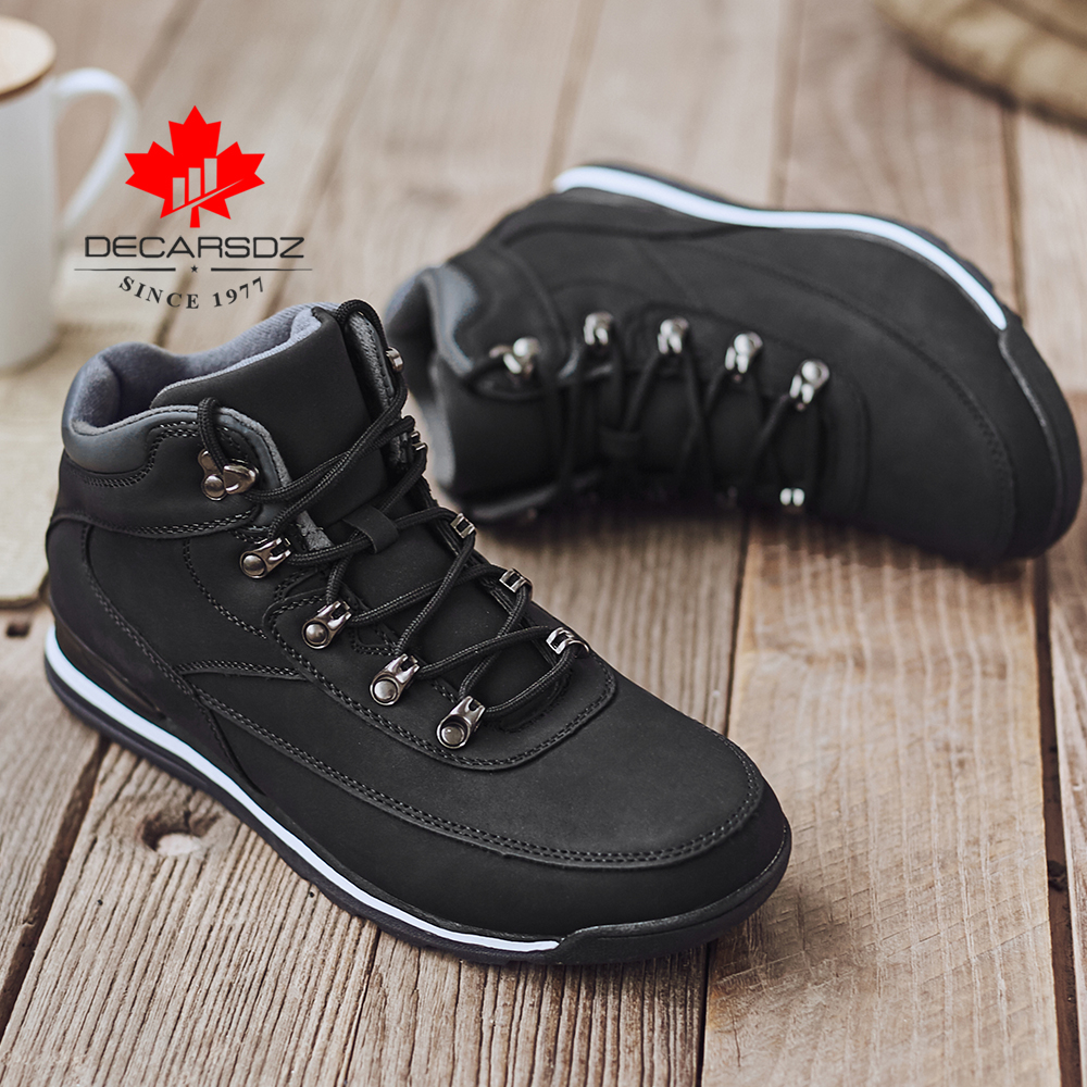 DECARSDZ Brand 2019 Rome Boots Men Warm Winter Snow Boots Waterproof Lace-Up Motorcycle Boots Handmade Shoes Casual Shoes