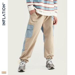 Image 5 - INFLATIE Mannen Denim Mannen Pak Herfst Winter Mode Mannen Blazer Jeans Pak Losse Fit Uitloper Denim Mannen Pak Spliced Jeans suits