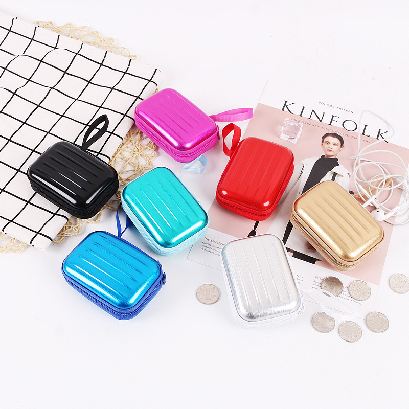 Colorful Earphone Wire Organizer Box Data Line Cables Candy Storage Box Case Container Coin Headphone Jewelry Protective Box