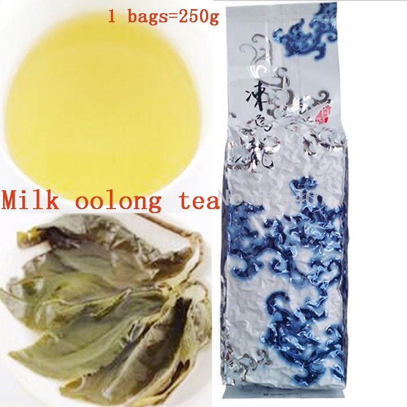 250g Chinese Taiwan Milk Oolong Tea Beauty Weight Loss Lowering Blood Pressure High Mountains JinXuan Milk Oolong Green Tea