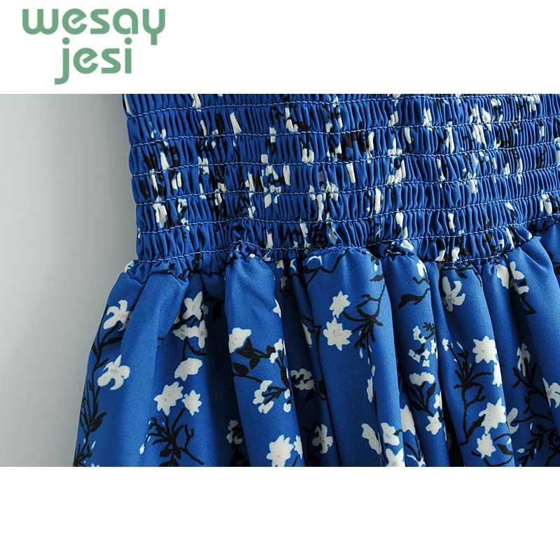 Women Dress Elegant Vintage floral print Dress Stylish Sexy slash Neck 2019 Casual sweet Beach Summer Sundress vestidos in Dresses from Women 39 s Clothing