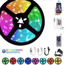 LED luces de tira RGB escritorio habitación decoración para casa Pixel Led 12V con Control remoto de cinta 15 metros resistente al agua lámpara de habitación