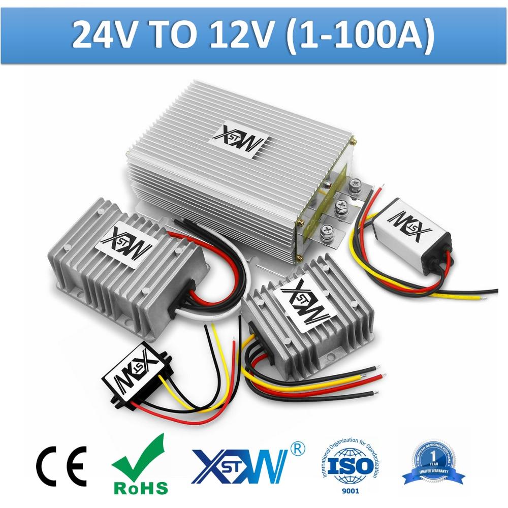 XWST DC DC 24V to 12V 1A to 100A power Converter Step Down 24 Volt to 12 Volt Buck Regulator